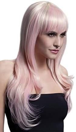 Парик цвета блонд с розовыми прядями Fever розовый