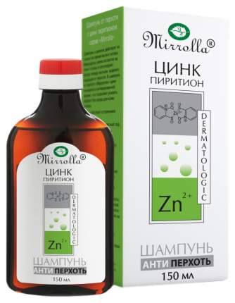 Шампунь от перхоти Mirrolla с цинк пиритионом 1% 150 мл