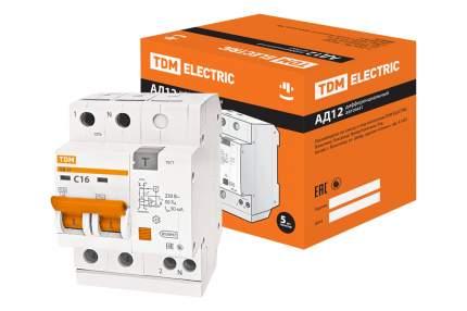 Дифавтомат TDM ELECTRIC АД12 2Р 16А 30мА SQ0204-0006