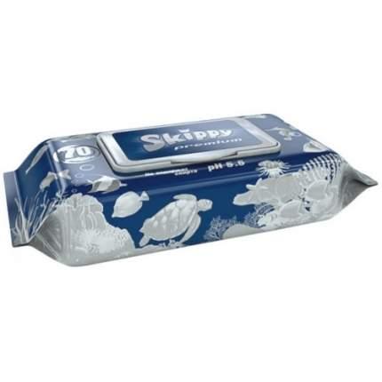 Влажные детские салфетки Skippy Premium 70 шт