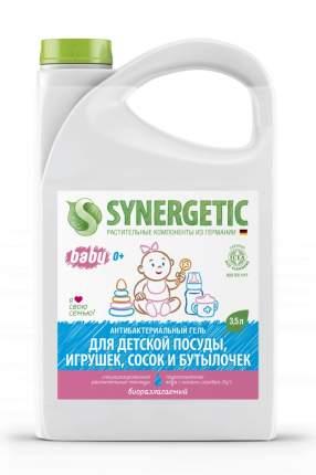 Антибактериальный ЭКО гель SYNERGETIC для мытья дет.пос., игр. и фрукт.,без запаха, 3,5 л