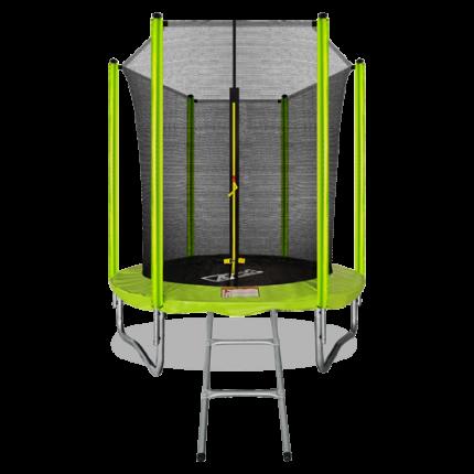 Батут 6FT с внутренней страховочной сеткой и лестницей (Light green) ARLAND