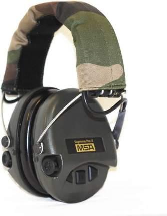 Наушники активные MSA Supreme Pro-X, фонарик, SNR25dB, NRR18dB, хаки/камуфляж