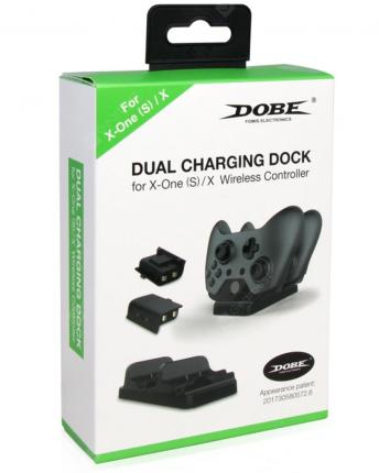Зарядная станция Dual Charging Station для двух геймпадов Xbox One (TYX-532) черный