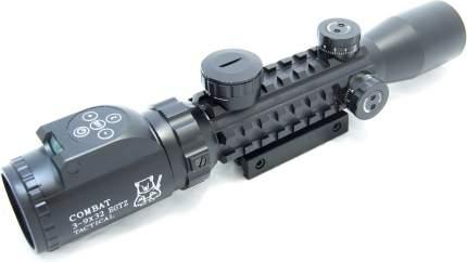 Оптический прицел Combat 2-6x28 EGTZ (2-х цв.подсветка - красная и синяя)  сетка -MilDot