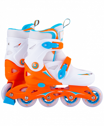 Ridex Ролики раздвижные Cricket Orange, пластиковая рама - L (39-42)