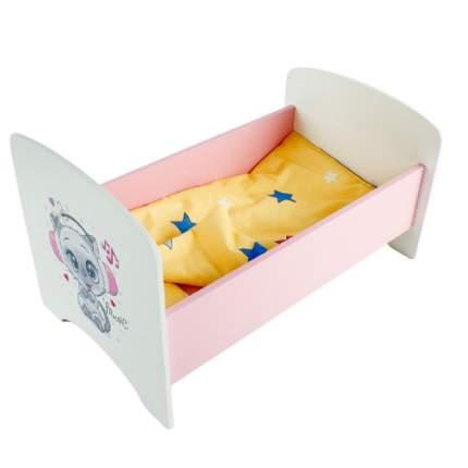 Кроватка для кукол Коняша Котенок в наушниках, с постельным бельем