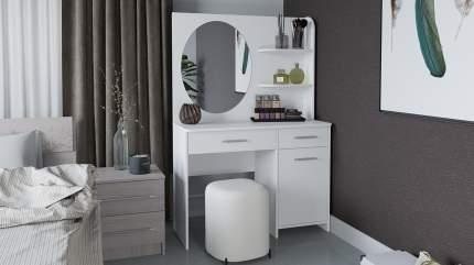 Стол туалетный Трия «Эвита» белый глянец