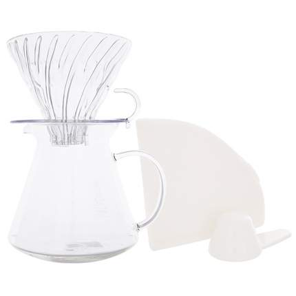 Набор для заваривания кофе Hario S-VGBK-02-T, чайник + воронка, стекло, 600 мл