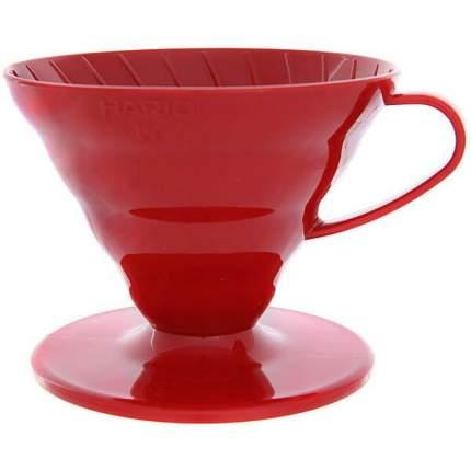 Воронка пластиковая для приготовления кофе Hario VD-02R Красная