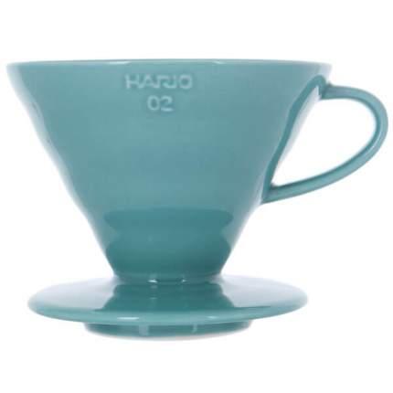 Воронка керамическая для приготовления кофе HARIO 3VDC-02-TQ-UEX, тиффани
