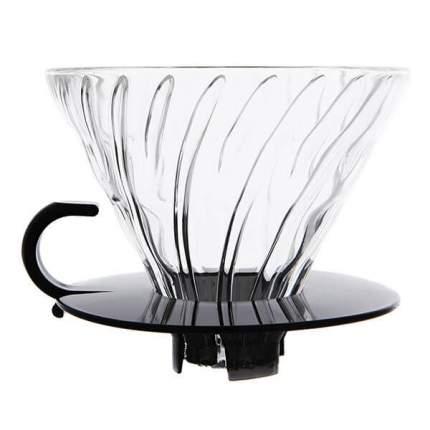 Воронка стеклянная для приготовления кофе Hario VDGF-02TB-UEX, прозрачная