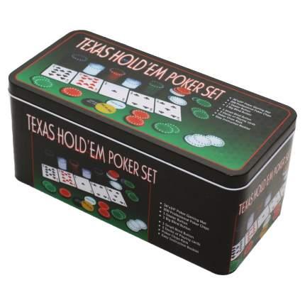 Набор для покера из 200 фишек в жестяной коробке + карты и сукно Фабрика 251538 Покера