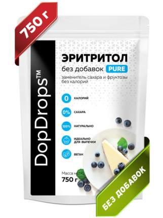 Натуральный сахарозаменитель DopDrops Эритритол PURE 70% от сладости сахара 750 г