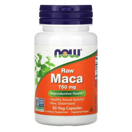 Maca Raw NOW 750 мг капсулы 30 шт.