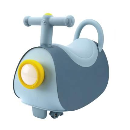 Детская каталка-толокар Arolo Little Hero 3в1 с безопасными колесами, цвет голубой