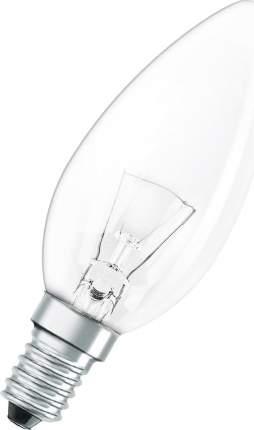 Лампа накаливания Osram Classic B CL E14 60 Вт теплый свеча прозрачная
