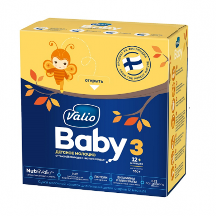Молочная смесь Valio Baby 3 от года 350 г, упаковка из 10 шт.