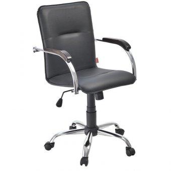 Кресло оператора Фабрикант Samba G, CH кожзам черный BOX1
