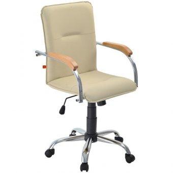 Кресло оператора Фабрикант Samba G, CH, кожзам бежевый BOX1