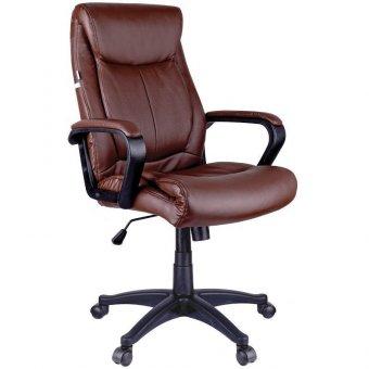 Кресло руководителя Helmi HL-E02 Income, экокожа коричневая