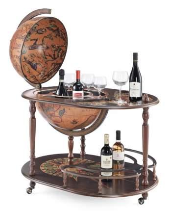 Глобус-бар напольный со столиком d=50 см