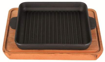 Сковорода чугунная 180х180х25мм квадратная с подставкой Н181825Г-Д Хорека