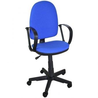 Кресло оператора Престиж, ткань синяя В10