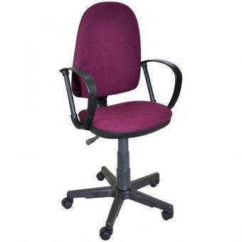 Кресло оператора Престиж, ткань бордовая 2А