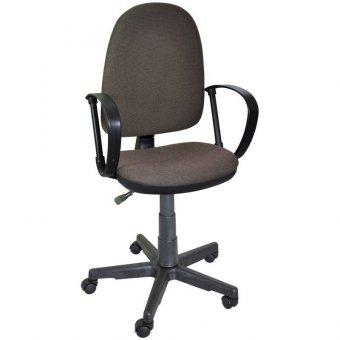 Кресло оператора Престиж, ткань коричнево-бежевая В28