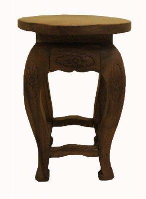 Резной круглый столик, h=51см