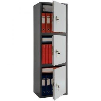 Шкаф бухгалтерский Aiko SL-150/3Т, 1490х460х340, три двери, ключевой замок