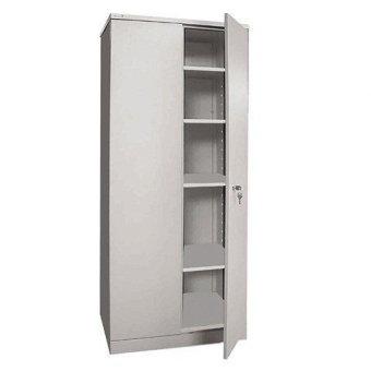 Шкаф металлический офисный НАДЕЖДА ШМС-4, 1850х756х452 мм, разборный, 2 места