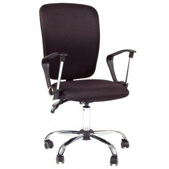Кресло оператора Chairman 9801 хром CH, ткань черная, механизм качания