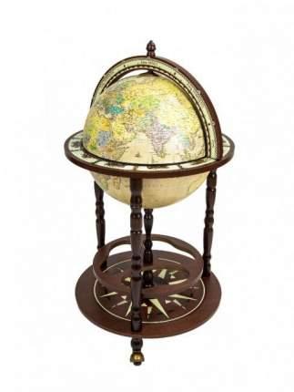Глобус-бар напольный Юнона 87.RU, d=40 см (на русском языке)