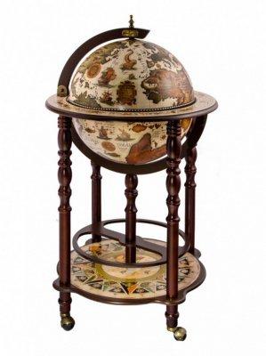 Глобус-бар напольный Одисей Ptolemaeus d=40 см, 54х101 см