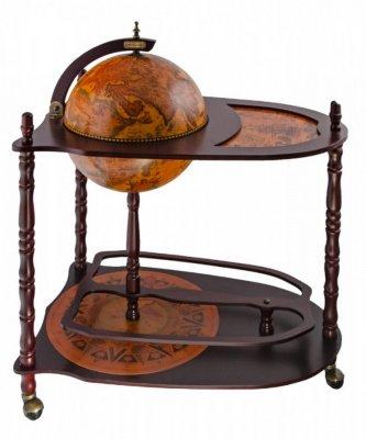 Глобус-бар напольный со столом Ptolemaeus d=33 см, 70х45х86 см