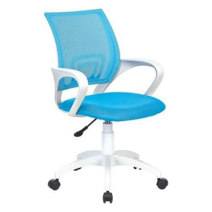 Кресло БЮРОКРАТ CH W696, на колесиках, сетка/ткань, голубой [ch w696 lb]