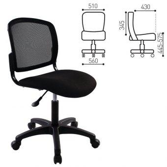 Кресло CH-1296NX (СН-296NX), без подлокотников, черное, CH-1296NX/BLACK