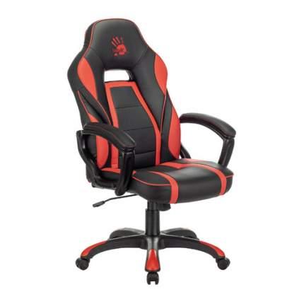 Кресло игровое A4TECH Bloody GC-350, на колесиках, эко.кожа, черный/красный
