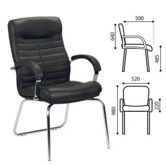 Кресло для приемных Orion CFA/LB steel chrome LE-A
