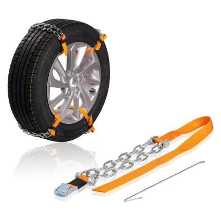Цепи (браслеты) противоскольжения для кросс-ов (колёса 205-225 мм), к-т 4 шт.(ACB-C-02)