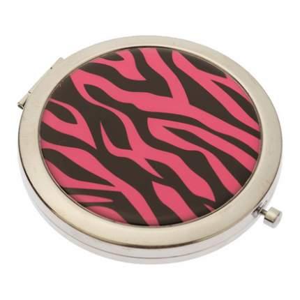 Зеркало Dewal «Дикая природа» карманное круглое розовый тигр