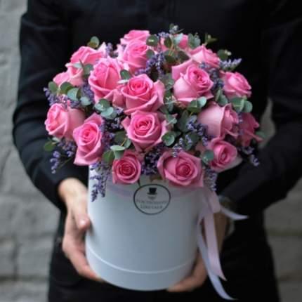 """Цветочная композиция """"Розовое сияние"""""""