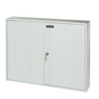 Шкафчик (Ключница) на 300 ключей BRAUBERG, 730х550х140 мм, с замком, +300 брелоков, серый