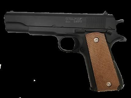 Пистолет пневмат. страйкбольный Stalker SA1911 Spring аналог Colt1911, к.6мм SA-130711911