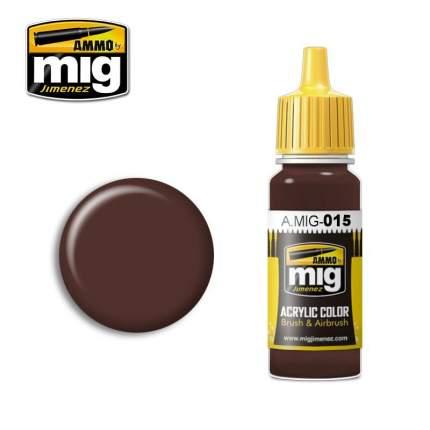 Акриловая краска для моделей Ammo Mig RAL 8017 SCHOKOBRAUN Шоколадно-коричневый