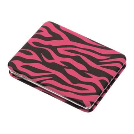Зеркало карманное Dewal Дикая природа прямоугольное розовый тигр