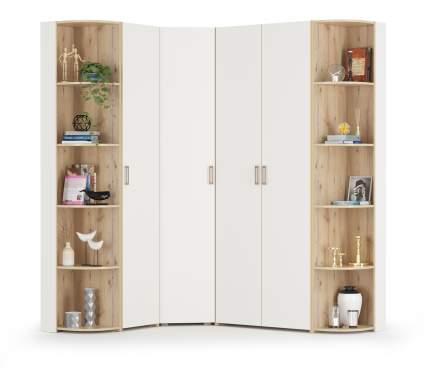 Набор шкафов Mobi Веста К10 гаскон пайн светлый/белый шагрень, 160х202х230 см