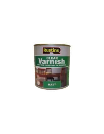 Полиуретановый лак для дерева Rustins Poly Varnish Matt Clear, Матовый  500 мл.